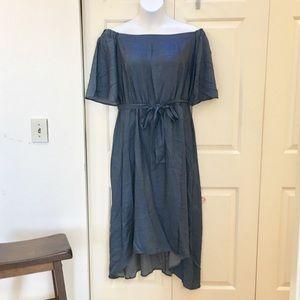 Eloquii off shoulder maxi dress
